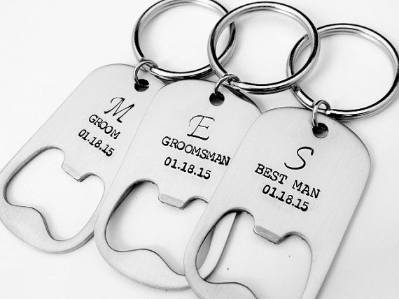 Personalized Bottle Opener Wedding Favors. Gift for by BBeadazzled