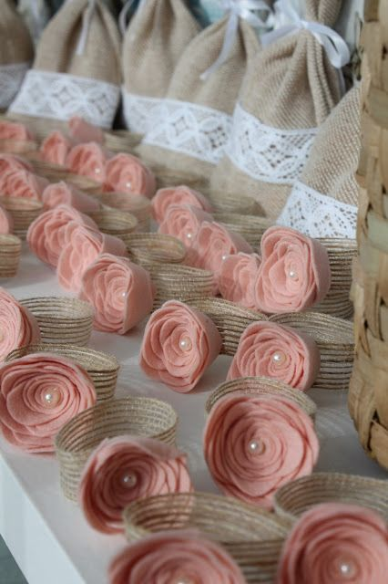 Ribbons & Lace: Wedding Door Rustic Napkin