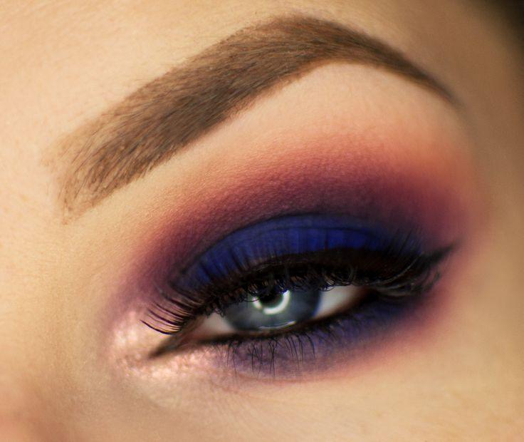 Makeup Geek Eyeshadows in Cherry Cola, Peach Smoothie, and Peacock. Look by: Magdalena Mizura.