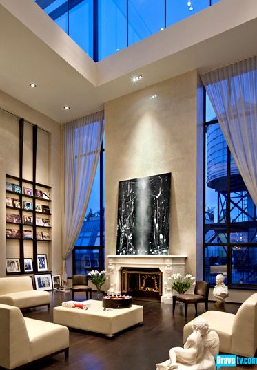 NYC. The living room of 95 Greene St.