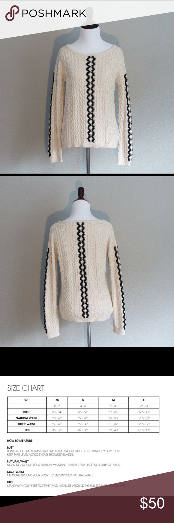 die besten 25 stores like anthropologie ideen auf pinterest nwt stacy chang crochet knit cream black sweater stacy chang s fashion collections have been sold at stores like anthropologie and off fifth