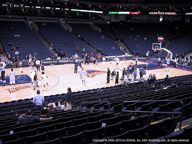 Oracle Arena Section 116 view