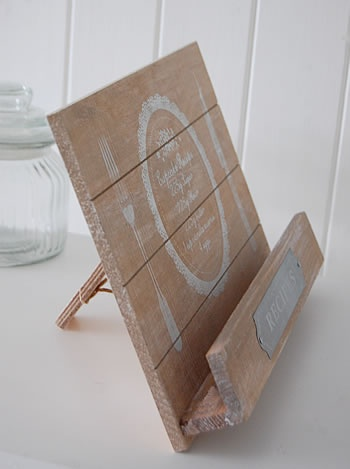 wooden recipe holder