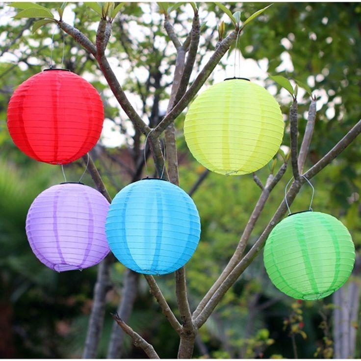 $9 Outdoor Garden Solar Fairy Lights LED Festival Lanterns Hanging China Celebration Lamp...
