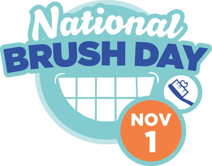 Re-pin this to pass it on! November 1 is National Brush Day. Take the pledge to brush: #2min2x #NatlBrushDay