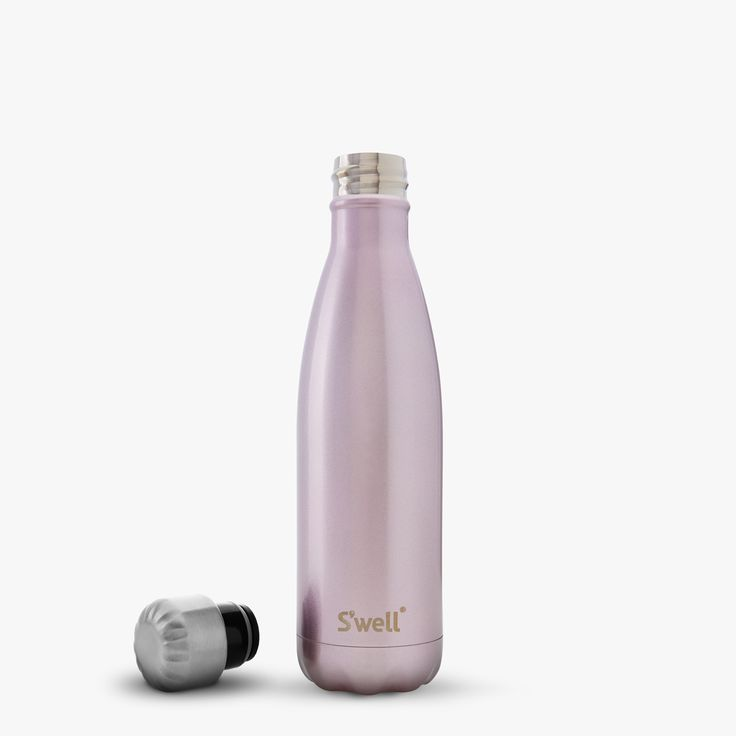 S'well   Glitter Collection   Pink Champaigne   17oz.   For subtle glamour, our Glitter Collection has just enough twinkle and shine.  Featured in a sparkled, lacquered finish.   $35