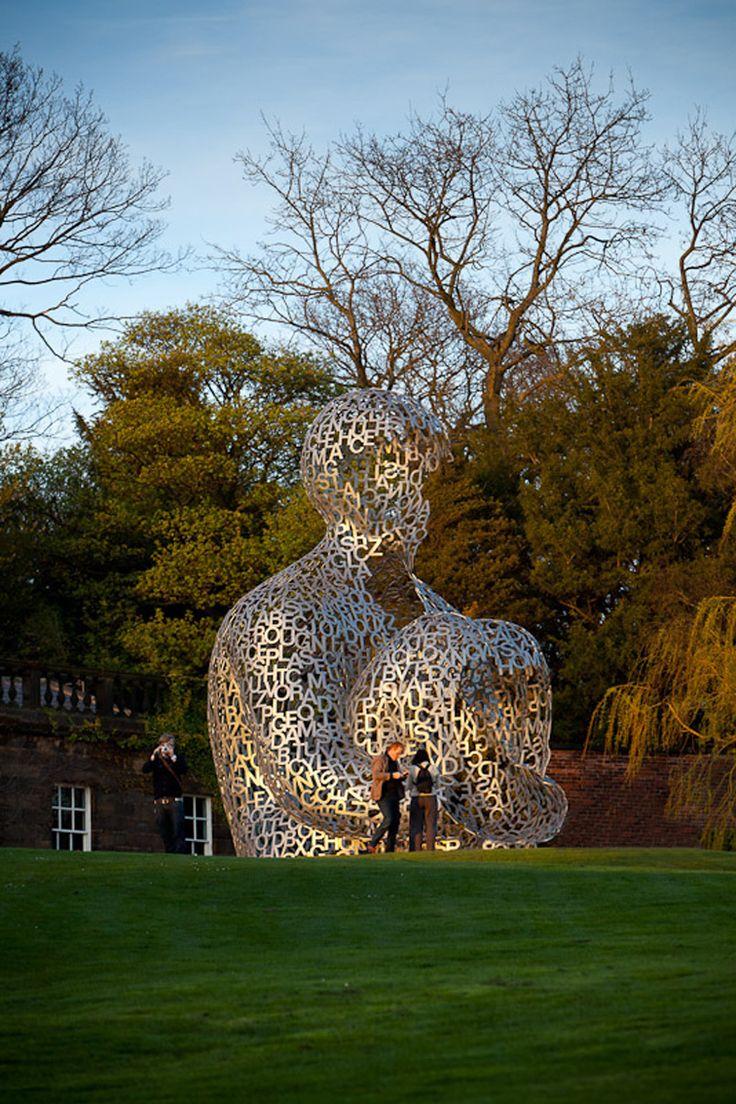 """Jaume Plensa | Yorkshire Sculpture Park"" #sculpture #typography #3Dtypography"