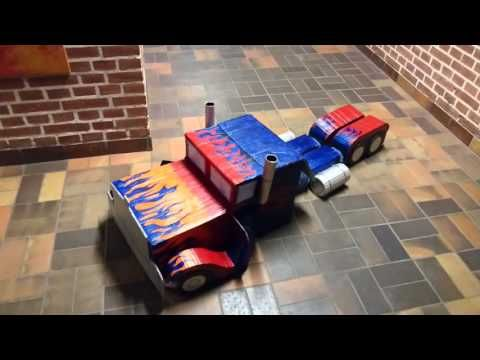 Optimus Prime Transforming Transformer Costume - YouTube