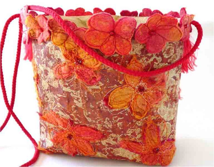 Mixed media bag by Isobel Hall- Isobel inspired my first bag, made from paper and stitch, a truly inspirational artist.