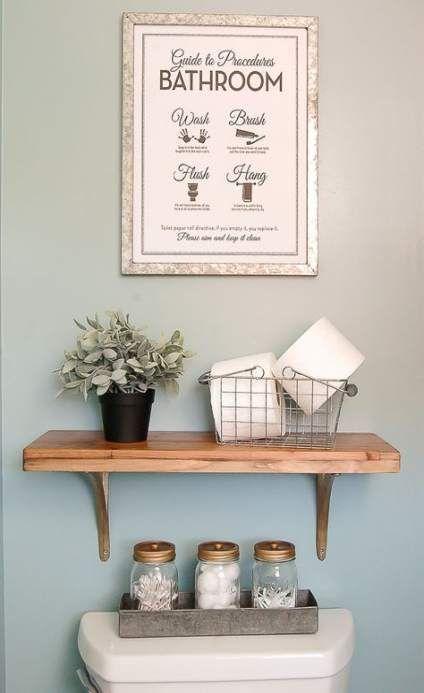 Bathroom Shelf Above Toilet Diy Powder Rooms 69 Ideas   – Bathroom. Kitchen. Til…   – most beautiful shelves