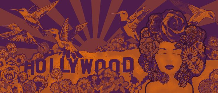 Hollywood Dreams - Orange and purple version.