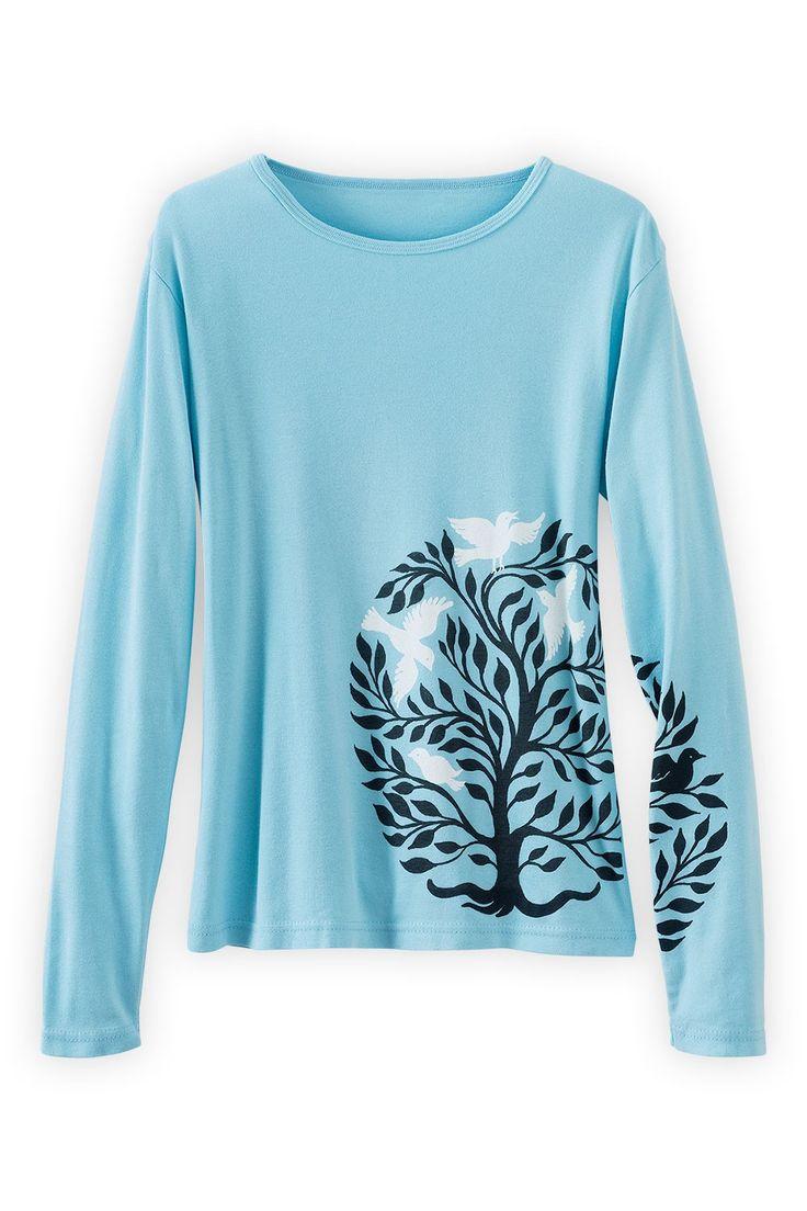 organic & fair trade Anchor Men T-Shirt ethical fashion_ deep teal HA4Xy