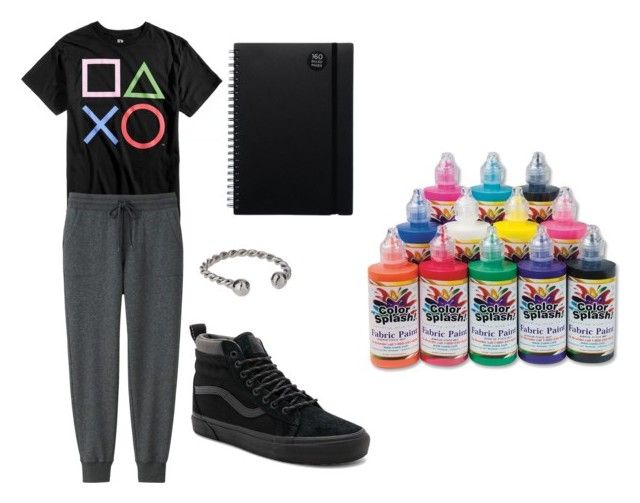 """""""cal's old painting clothes"""" by marauderslife on Polyvore featuring Bioworld, Uniqlo, Vans, Miss Selfridge and S&S"""