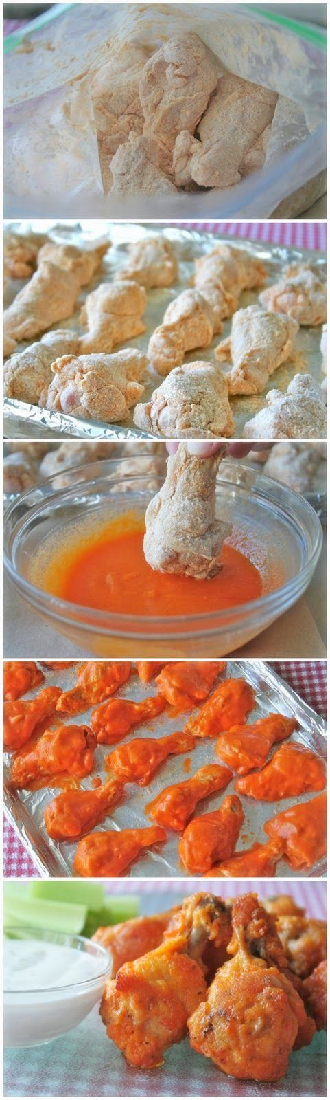 Baked Chicken Wings - sub pork rinds, parmesean or almond flour for flour.