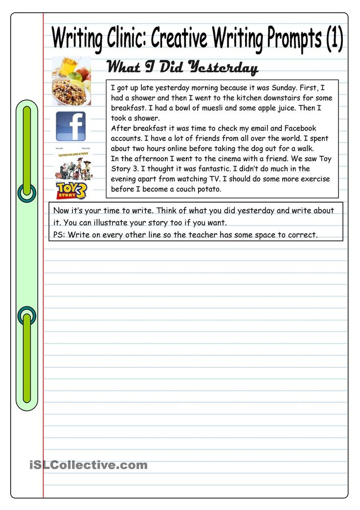 Second Grade: Writing Sample 1