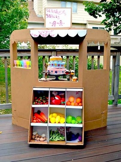 please get a place with a basement/play room soon....because you must make this! Cool projects to make out of old cardboard boxes!