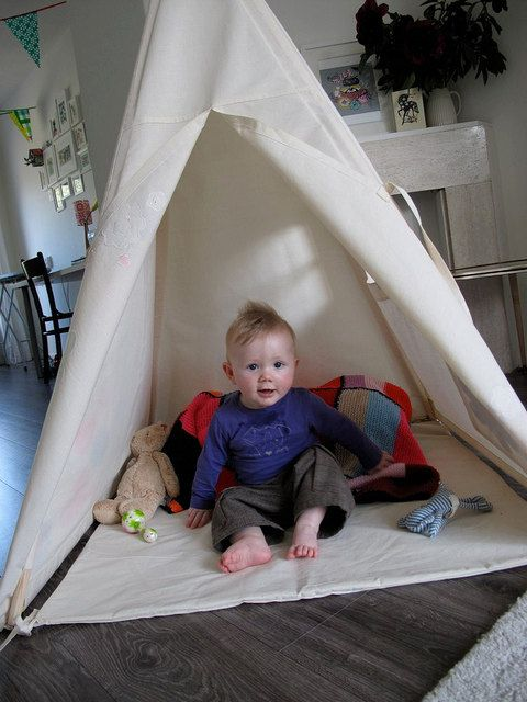 Tipi play tent NO POLES  Plain fabric tent parts by moozlehome, $135.00