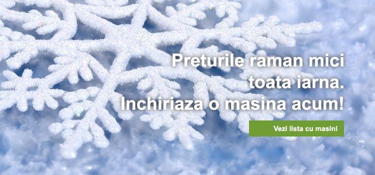 Iarna aceasta puteti beneficia de preturi cu pana la 30% mai mici la masinile din flota noastra auto!  Lista cu masini de inchiriat, o gasiti aici: http://www.emerald-auto.ro/ctg_3_masini-de-inchiriat_pg_0.htm