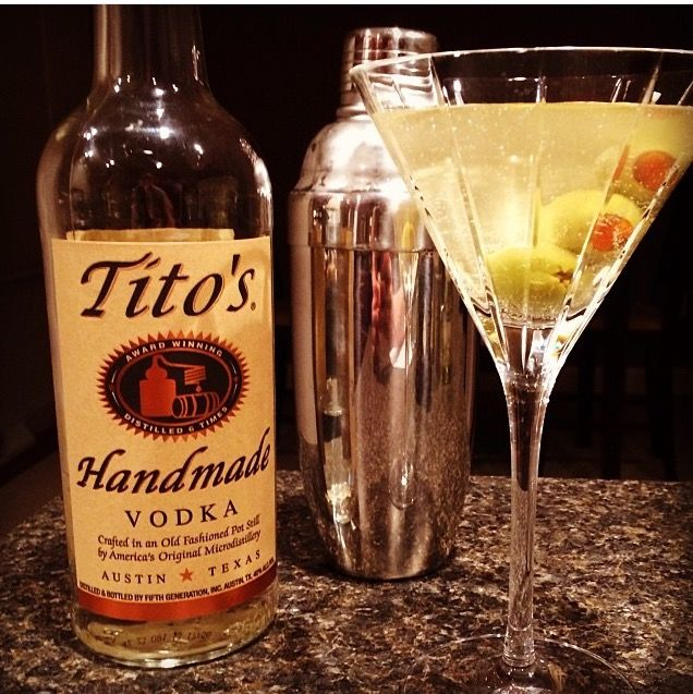 Classic Dirty Martini with Tito's Handmade Vodka from Shaker Chef