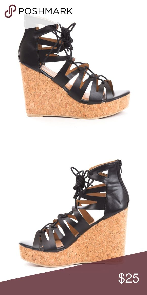 """Women's Corset Lace Up Wedges Soho Shoes Women's Corest style lace up wedges are this summer's most trending wedges. Great with jeans, skirts, dresses, and more. Perfect for any casual look! -Material: Leatherette (man-made) -Measurements: 4.5"""" heel height -Sole: synthetic, man-made -Style: Casual, Fashion, Summer Soho Shoes Shoes Wedges"""