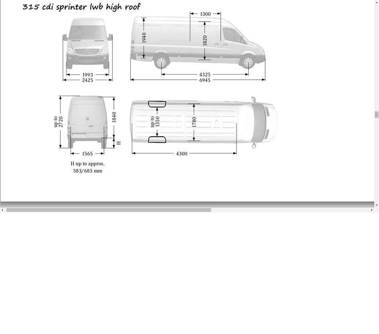 8 best campervan dimensions images on pinterest | mercedes