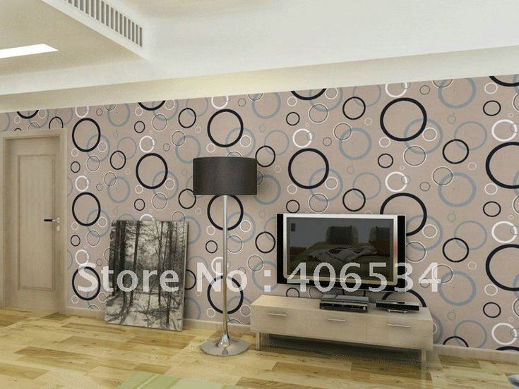 Fashion simple circle pattern wall paper modern self adhesive vinyl rolls 0 53m10m