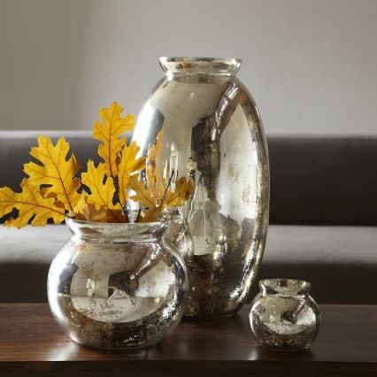 """DIY:: Dollar Store Vases to Mercury Glass Tutorial with """"looking glass"""" spray paint"""
