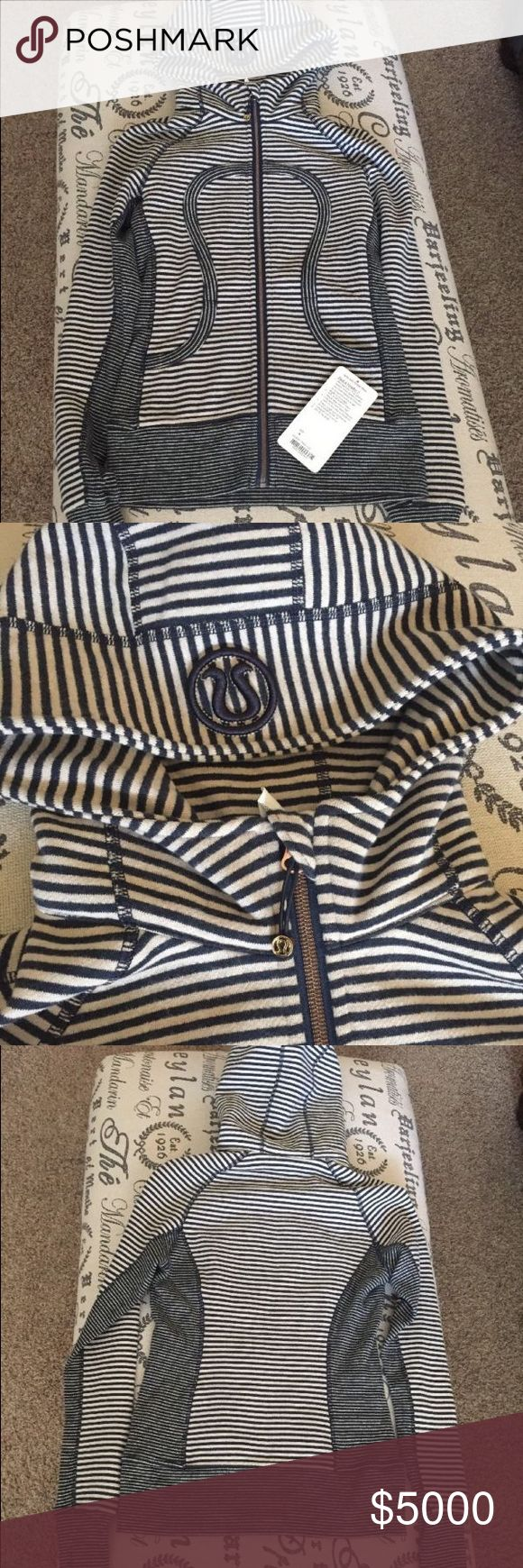 ISO (not for sale!) Lululemon scuba stripe hoodie I'm looking to buy this hoodie in a size 6! Please help me find it 😊 like new or new condition....(pictures found online) lululemon athletica Tops Sweatshirts & Hoodies