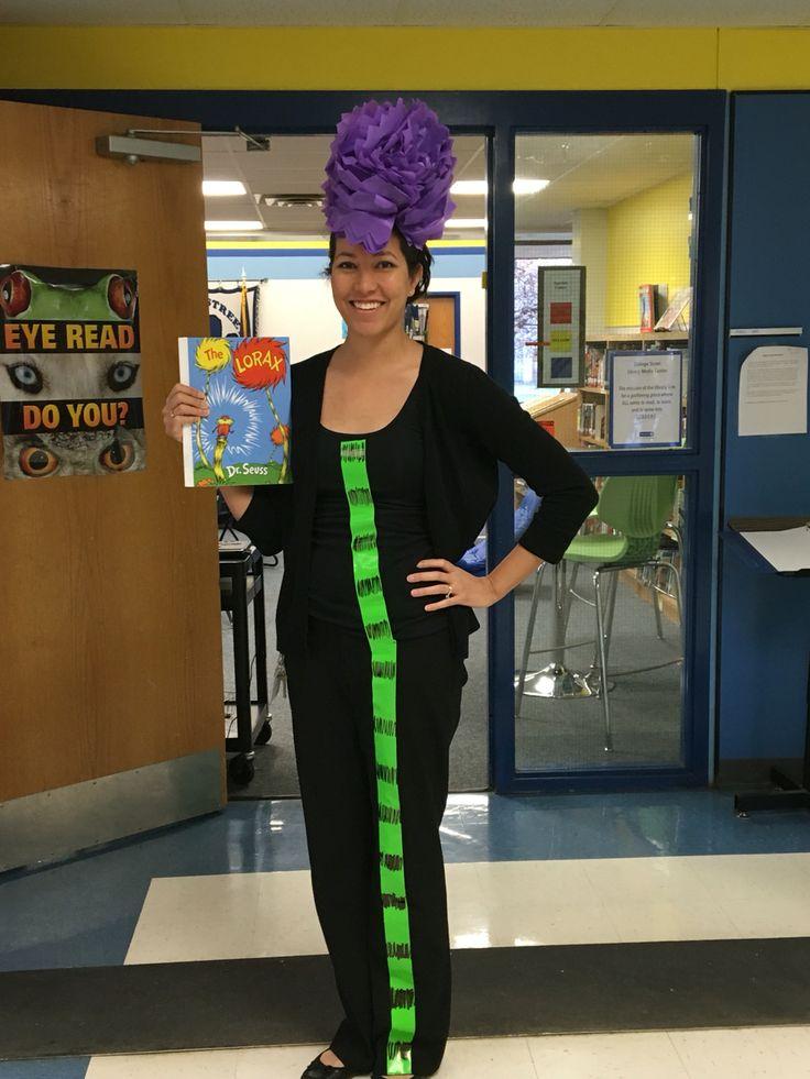 Easy Diy Truffula Tree Costume For Dr Seuss Dress Up Days