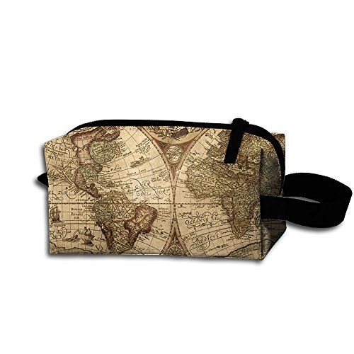 59b0ff3bf69b Storage Tools Bag, Canvas Old World Map Globe Tool Pouch Tote Bags ...