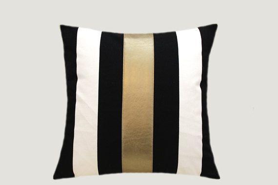 Decorative Pillows Cotton BlackWhite Throw pillow by svetastyle