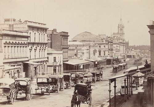 Melbourne, Swanston Street c1872