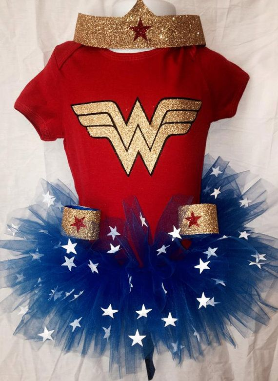 Wonder Woman Tutu Halloween Costume size 07 by TakinCareofBows, $45.00