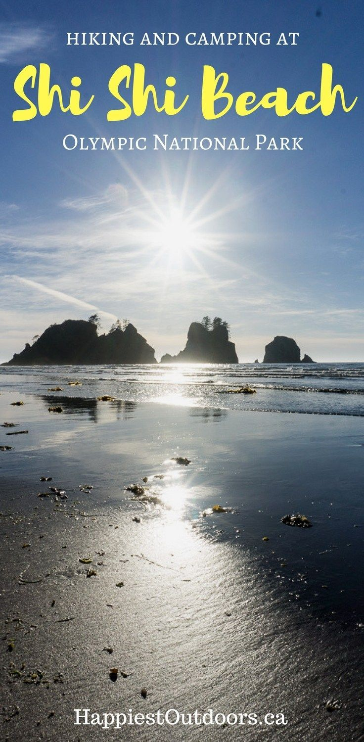 Everything you need to know to go hiking and camping at Shi Shi Beach in Washington's Olympic National Park. A short hike to a beautiful wilderness beach where you can camp, enjoy the sunset and walk through sea caves.
