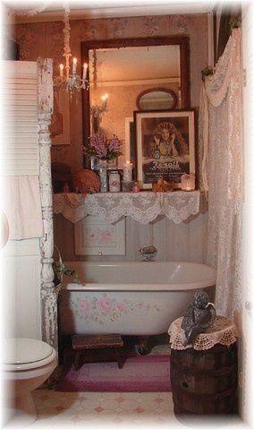 Wonderful DIY Ideas for a Small Bathroom Space! Shabby Chic Style…