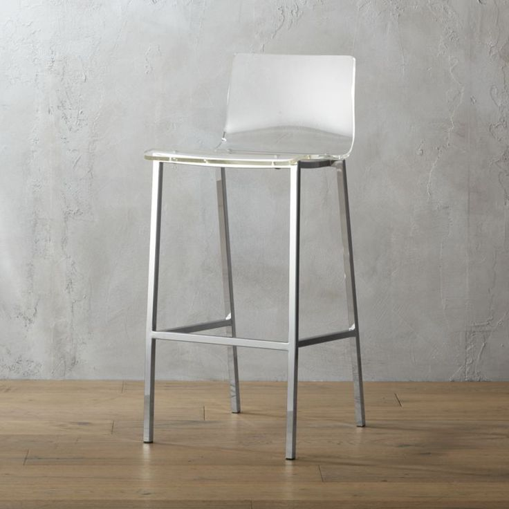 Vapor 30 Acrylic Bar Stool Out Of Thin Air No Fabric