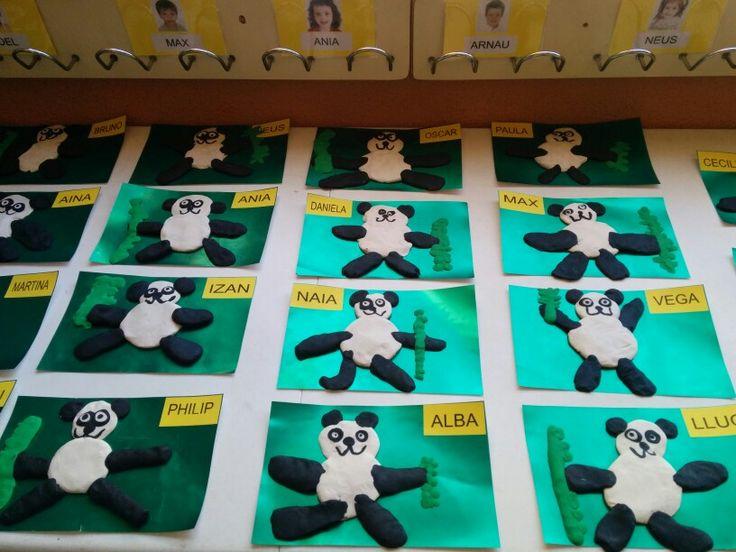 Óssos panda amb plastilina