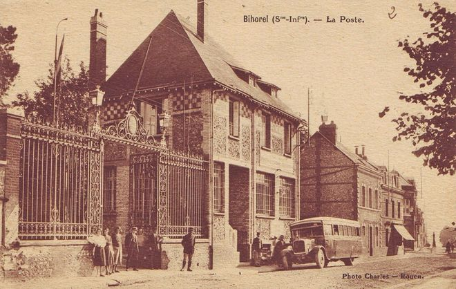 Bihorel France Photo Postcard Post Office