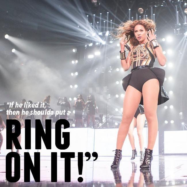 Beyonce Shoulda Put A Ring On It Lyrics