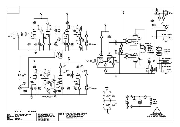 bass guitar power amp schematics