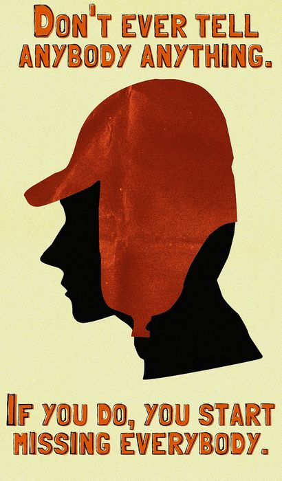 Holden Caulfield, The Catcher in the Rye by JD Salinger.