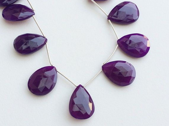 Purple Chalcedony Purple Chalcedony Faceted Pear by gemsforjewels
