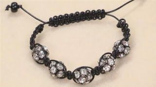 How To Make A Shamballa Style Bracelet, via YouTube.