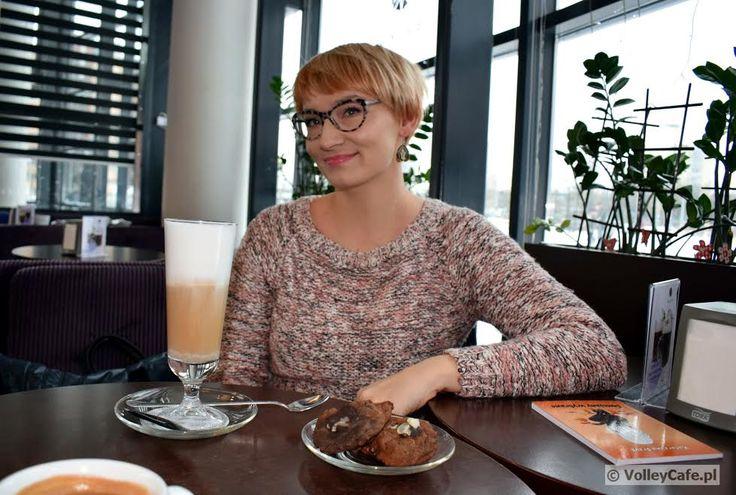 Katarzyna Grzyb (a wife of Wojciech Grzyb) during a coffee interview #coffee #coffeetime #cafe #volleyball #interview