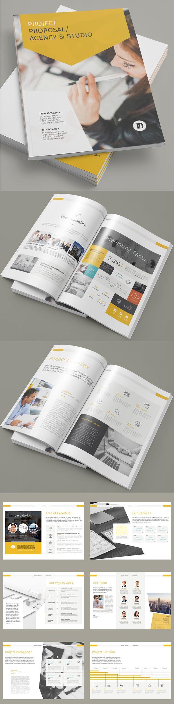 Project Proposal Brochure Template #annualreport #booklet #brochuredesign #brochuretemplates #fashioncatalog #catalogdesign