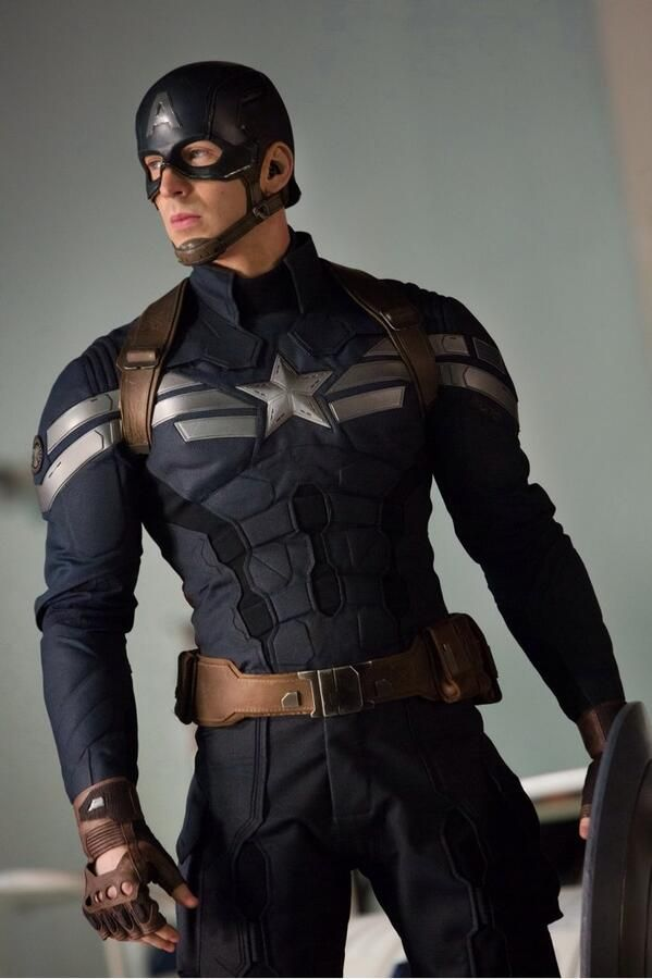 Chris Evans, Captain America: The Winter Soldier/ I like this suit! So much better than the suit he wore in the last avengers movie! The original from the first captain America movie wasn't too bad either...