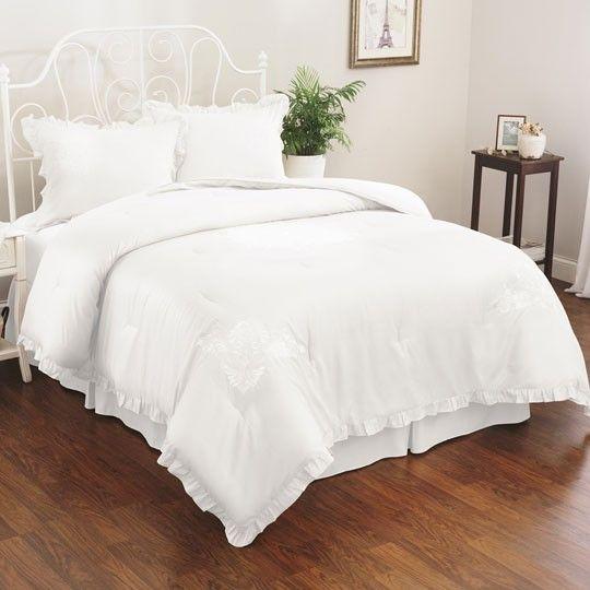 Eyelet Comforter Set White 100 00 Home Decor