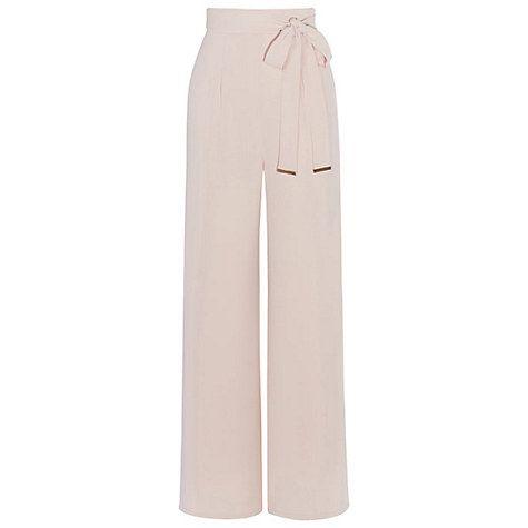 Buy Coast Morgan Side Split Trousers, Blush Online at johnlewis.com