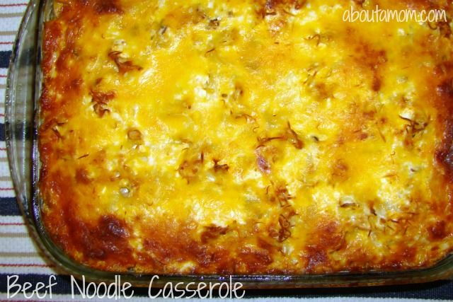 Best Ever Beef Noodle Casserole Recipe