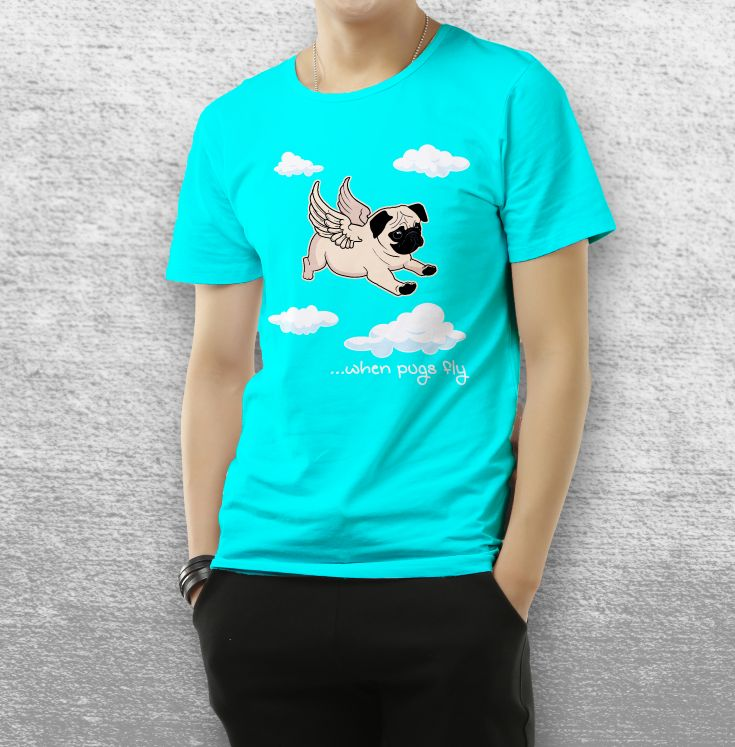 Adorable T Shirt for pug lovers or anyone with a sense of humor.  #pugs #puglife
